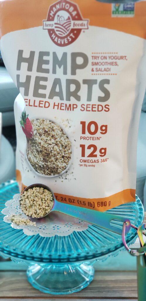 hemp hearts bag with a spoon full hemp hearts