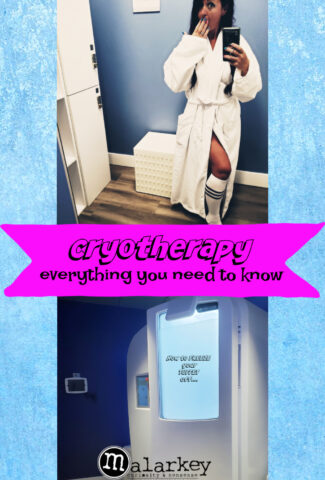 cryotherapy ad woman and machine