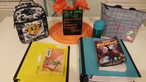 first day of school table - with books
