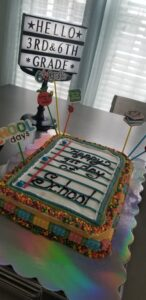 1st day of school cake