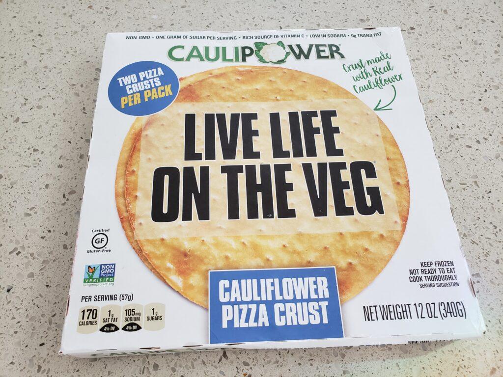 cauliflower pizza crust in the box
