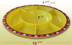 yellow tacoo dish wuth different slots for taco items