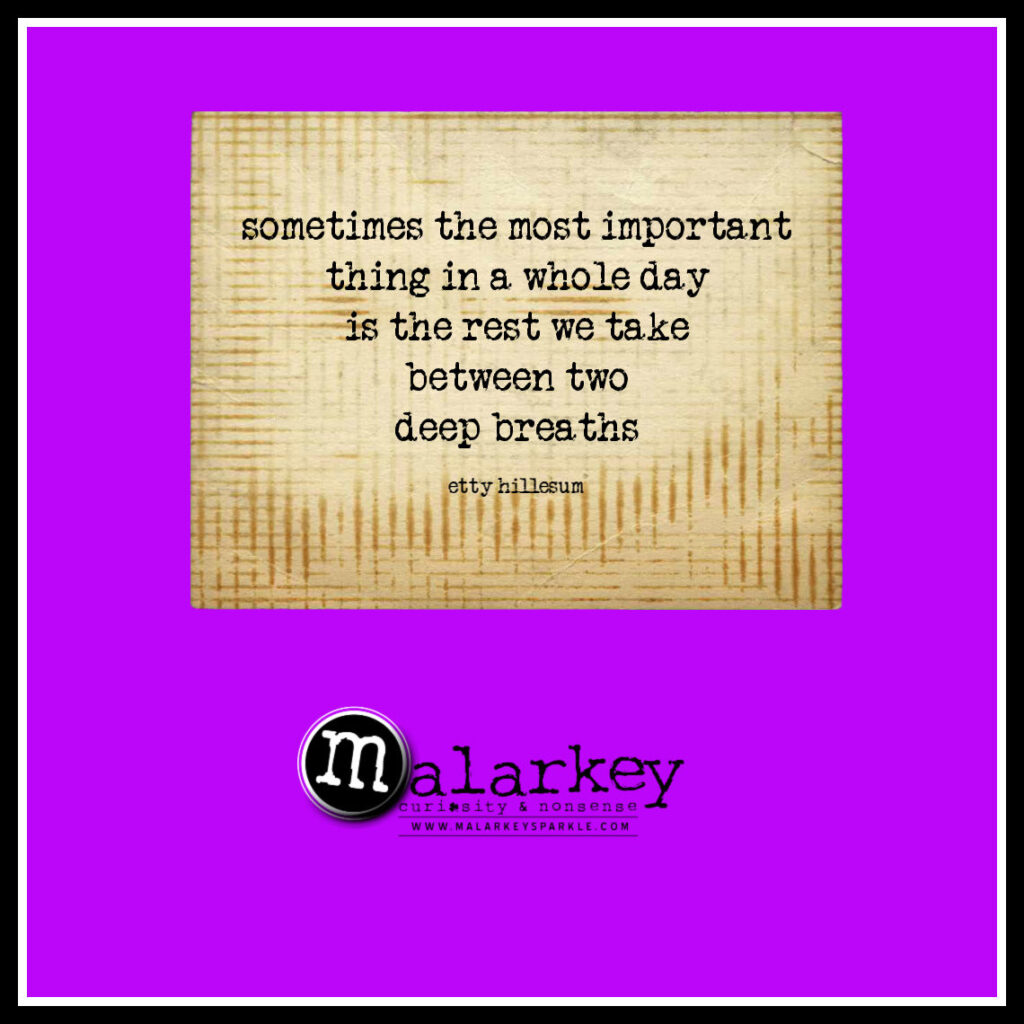 quote - rest is important