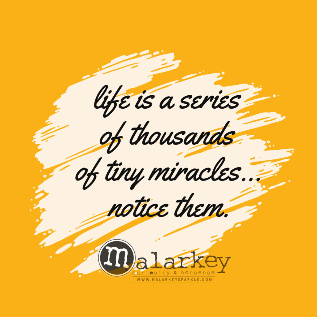 quote - life is a series of miracles