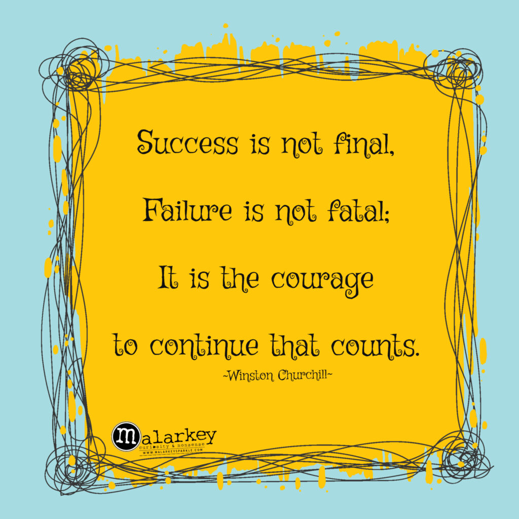 quuote about success not being final