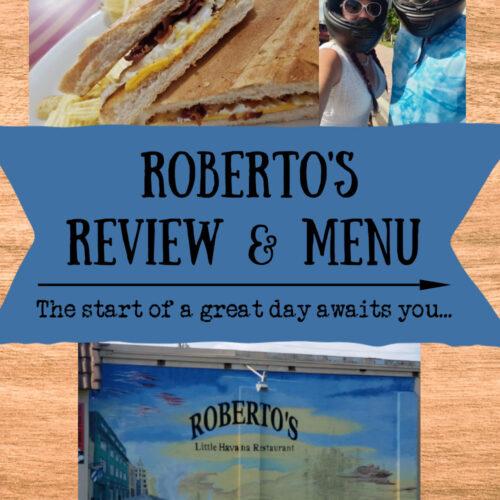 roberto;s review and menu