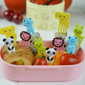 lunch picks with animals and food for kids