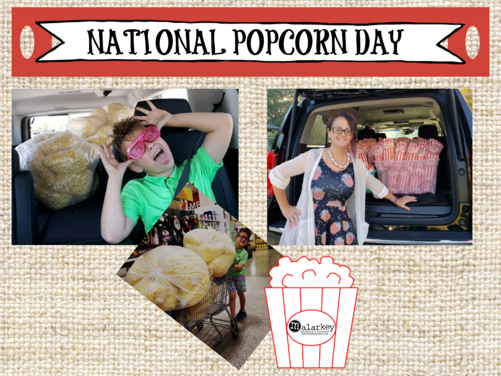 national popron day - 3 images boy and woman with popcorn
