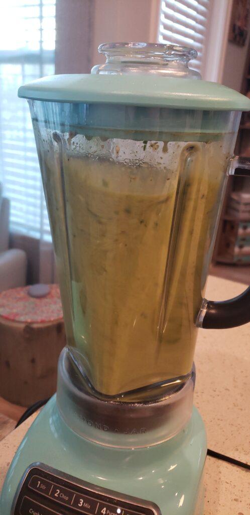 blender with juice inside