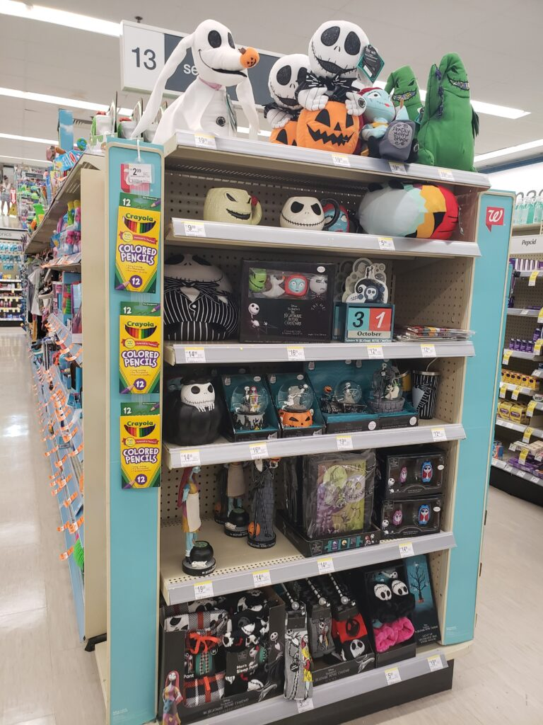 walgreens area for nightmare before xmas