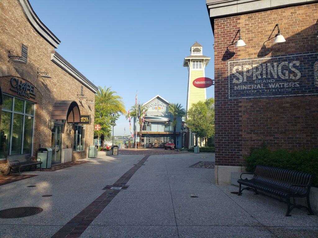 disney springs walkway