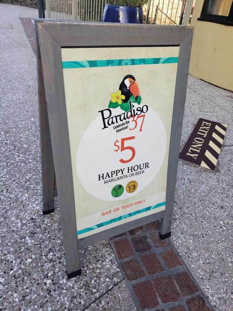 paradiso 37 menu disney springs