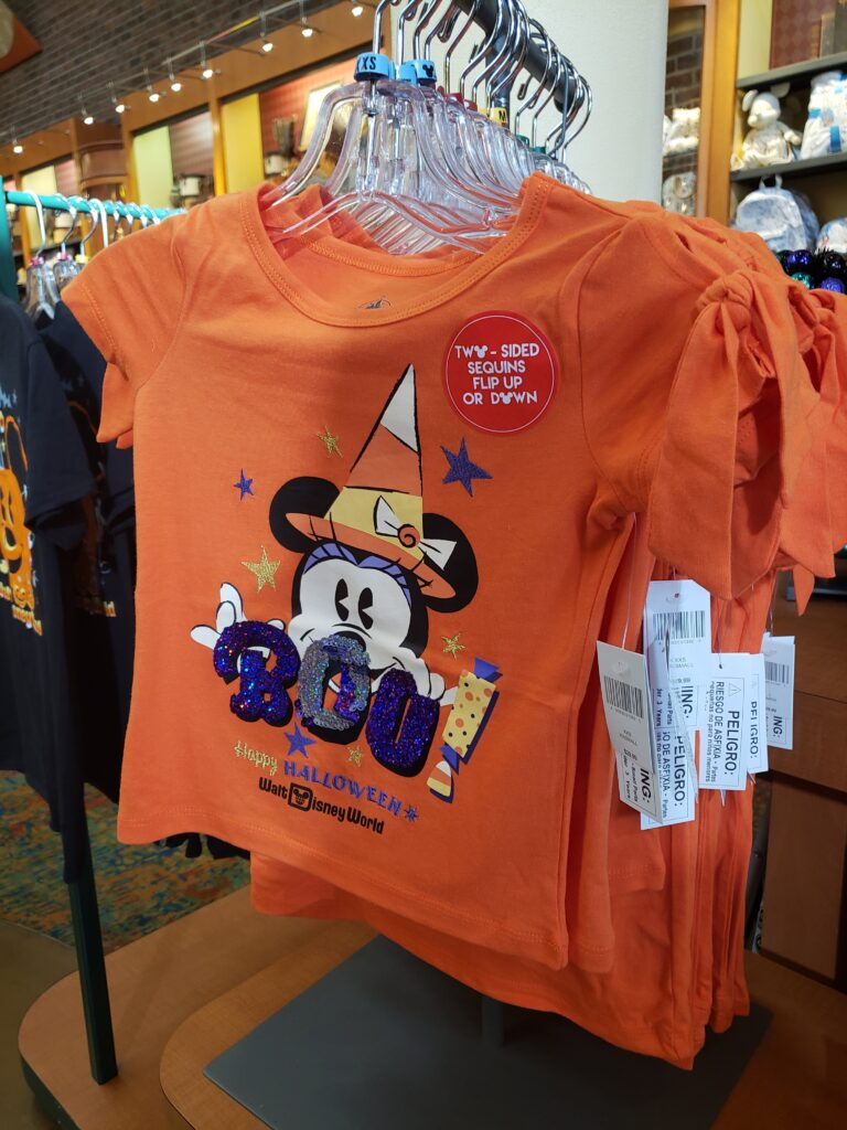 disney halloween shirt orange with minnie mouse