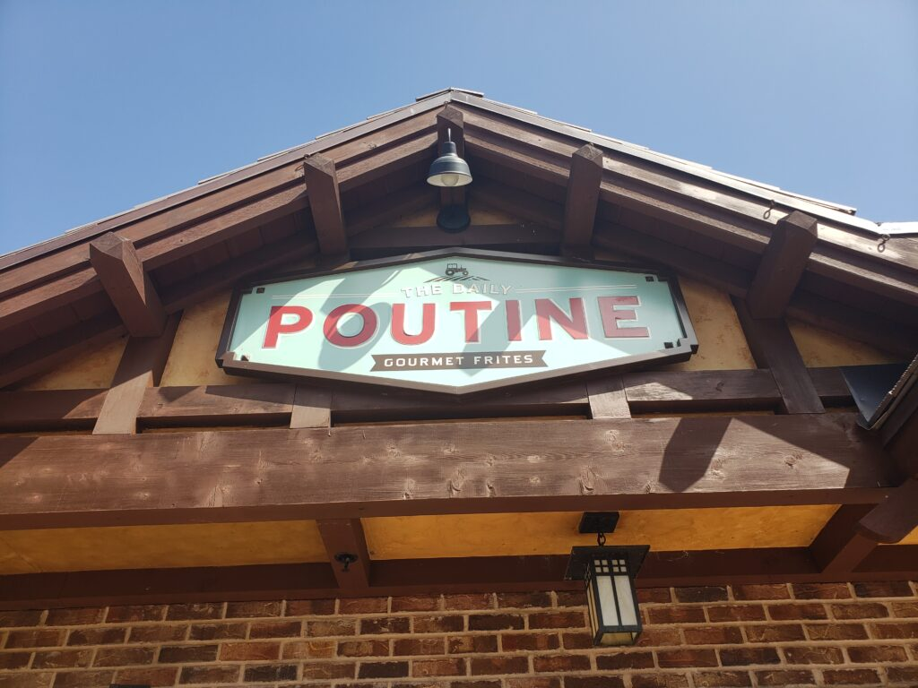 poutine sign in disney springs