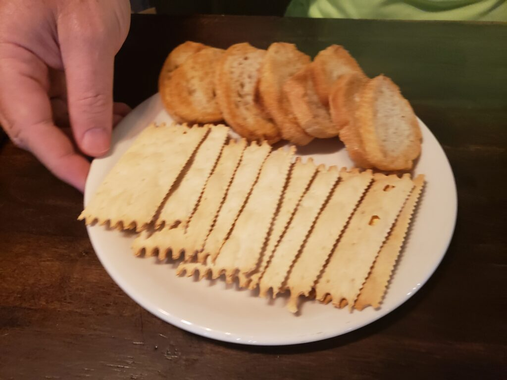 wine bar george large board - the crackers on a plate