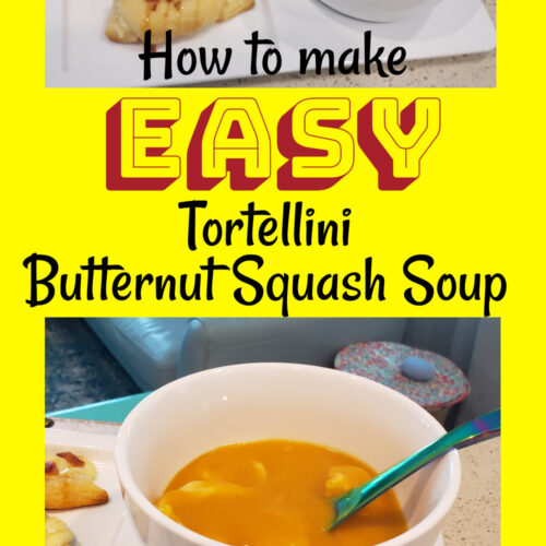how to make easy tortellini butternut squash with pictures of soup and rolls