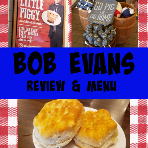 bob evans menu and review