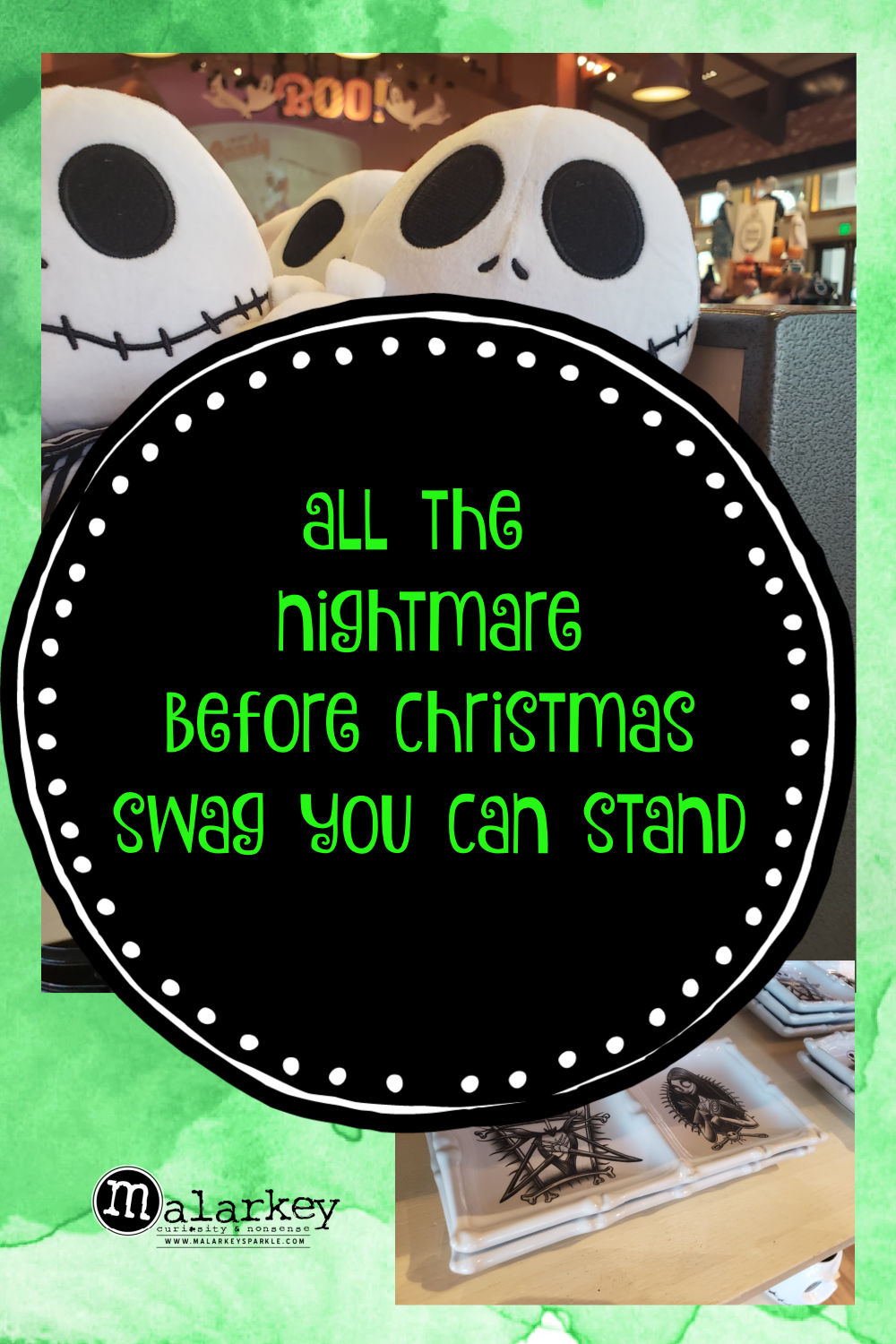pinterest pin nightmare before xmas swag