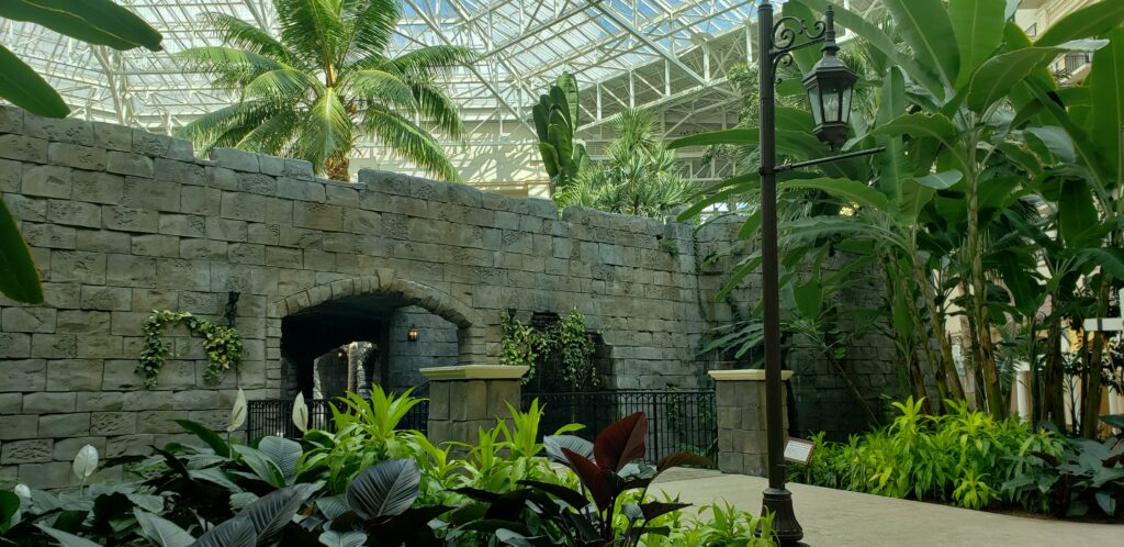 large brick building inside the gaylord palms