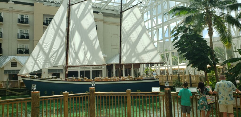 sail boat inside the gaylord palms resort