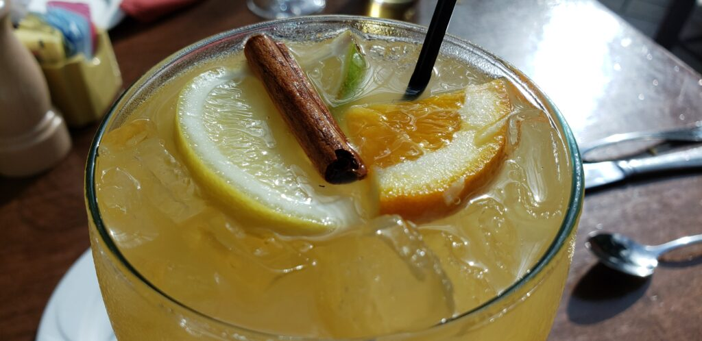 gaylord palms - drink fro ba orange with cinnamon stick and orange