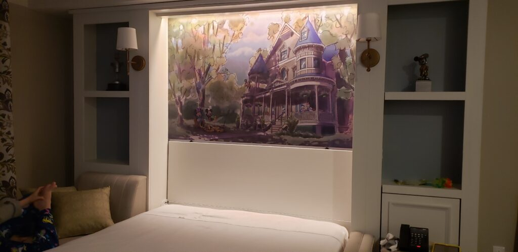disney saratoga pull down bed with a painting