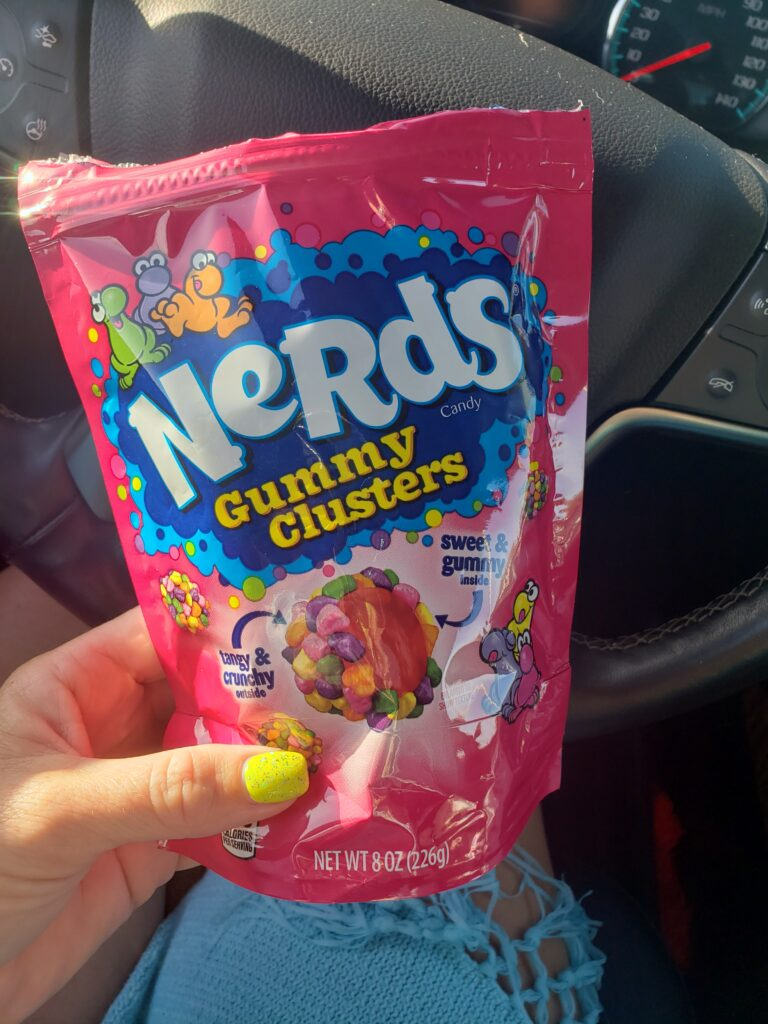 nerd gummy clusters bag of candy