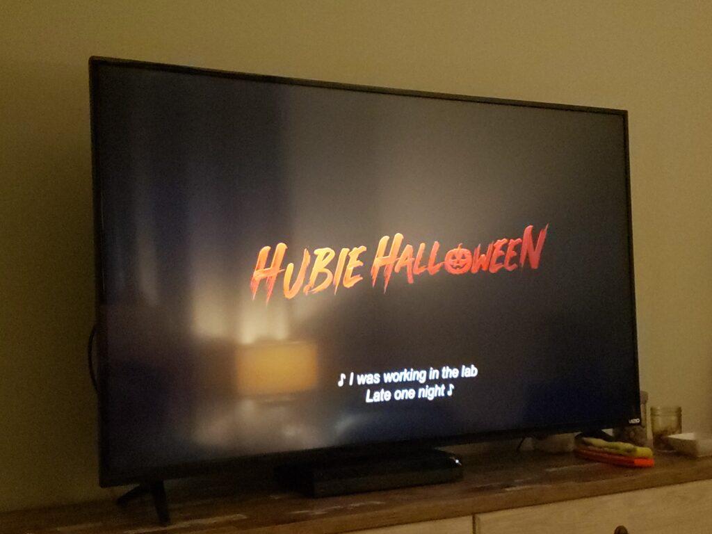 hubie halloween on a tv
