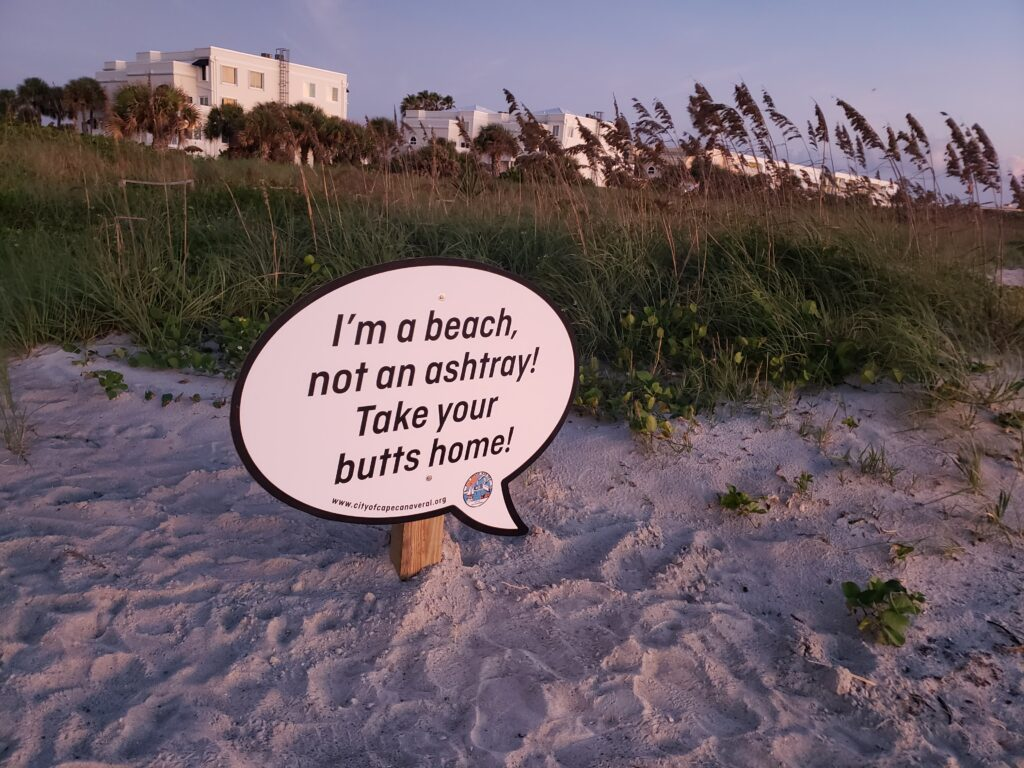 quote - ashtray and the beach