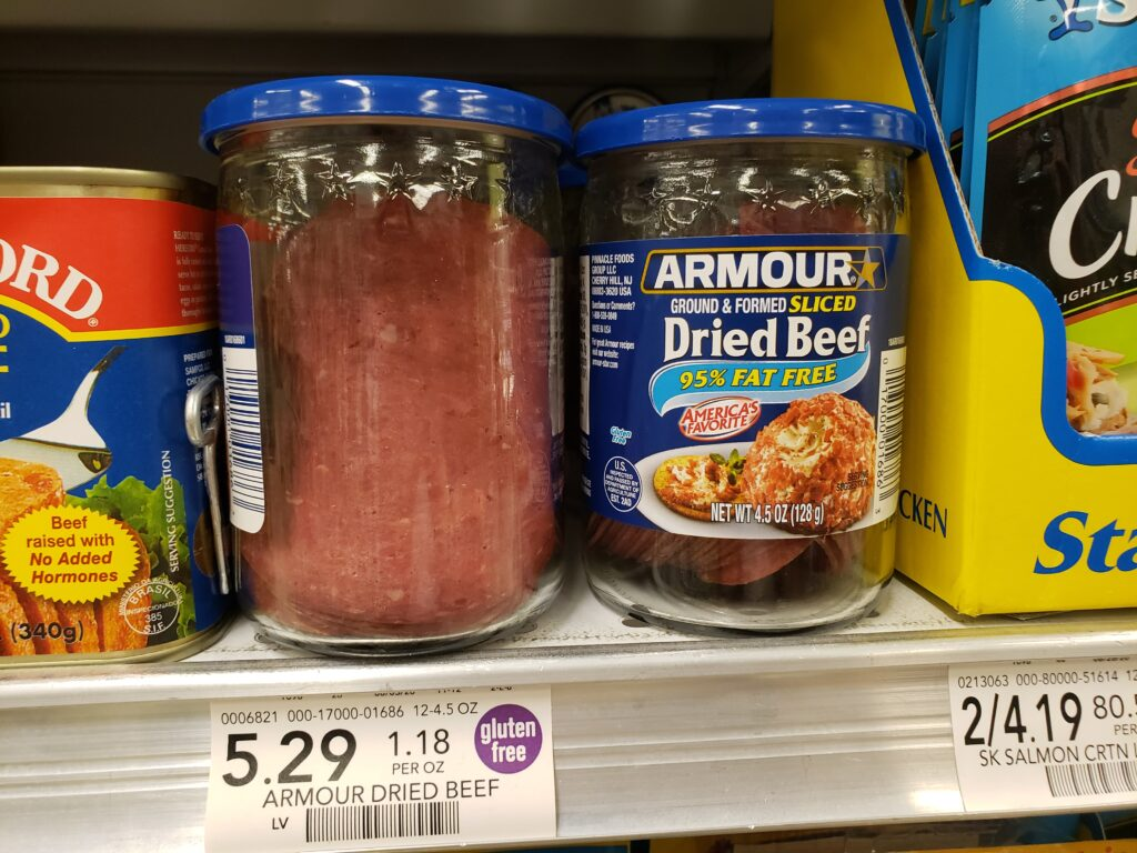 dried beef - in a jar
