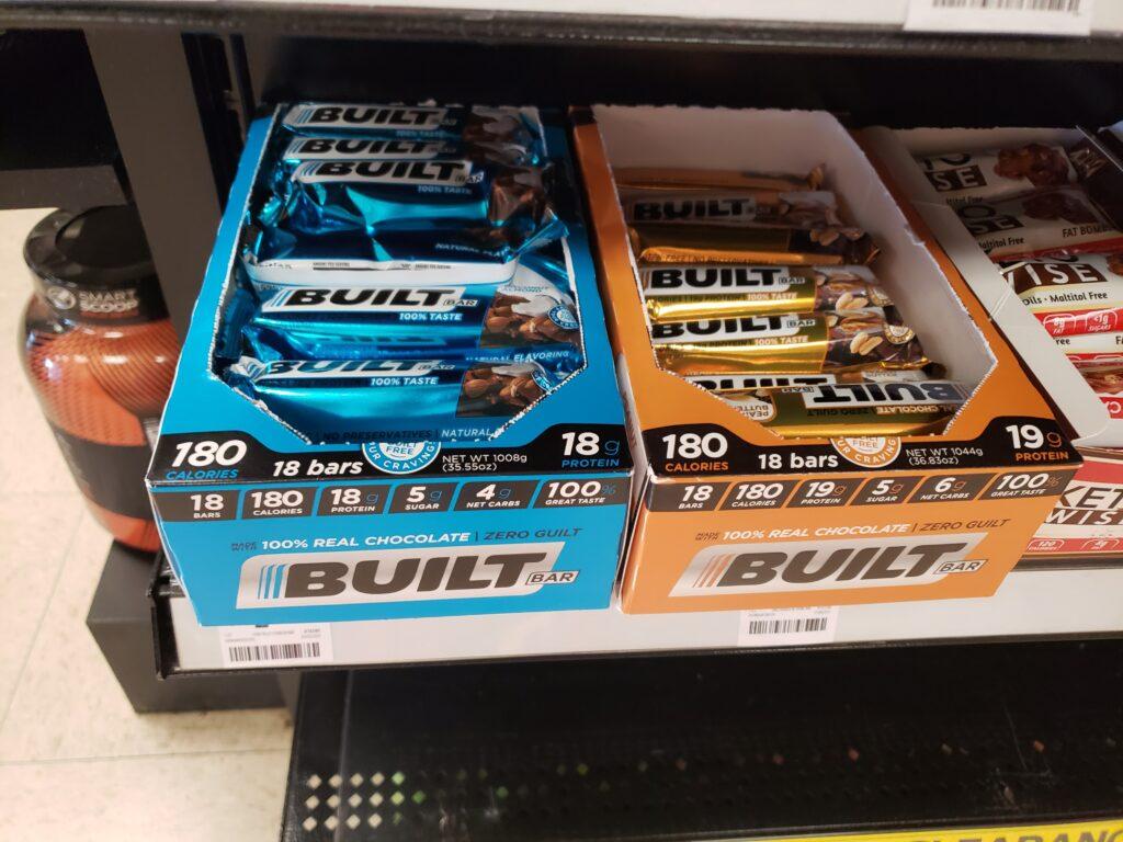 built bars on the shelf at the gnc shelf