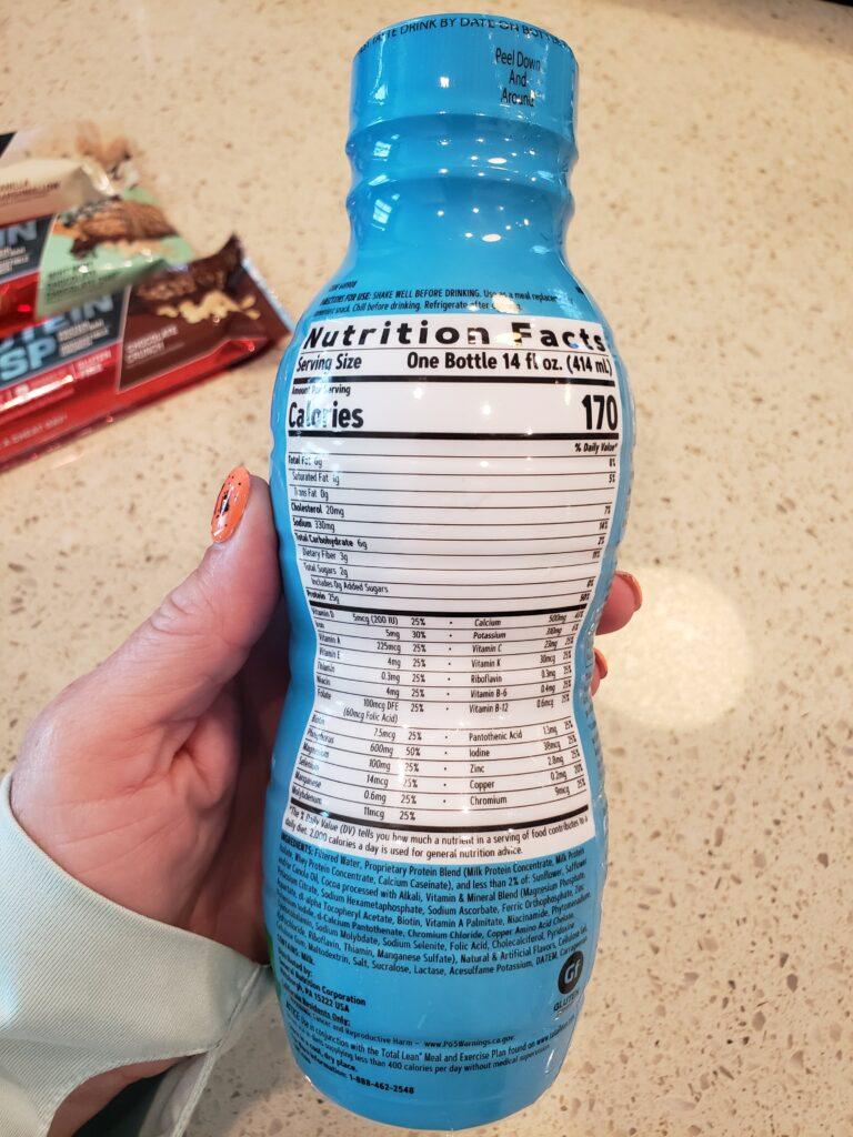 lean shake - 25 - thin mint - nutrition