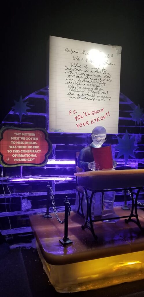 gaylord palms ICE - scene you'll shoot your eye out boy sitting at desk with a note