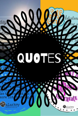 quotes - WORDING on top of 4 quotes