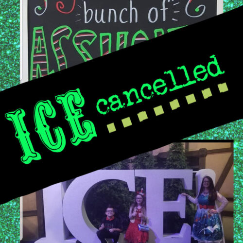 ICE CANCELLED - jolliest bunch of assholes and ice picture with a cancellation sign across it