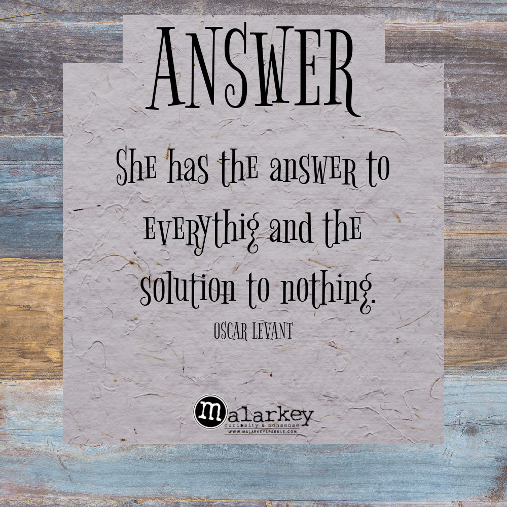 quote - answer