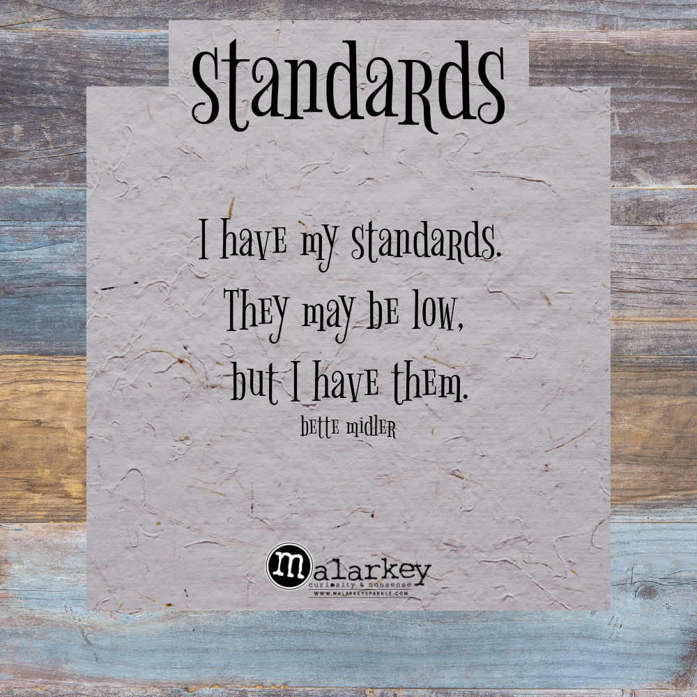 quote - standards