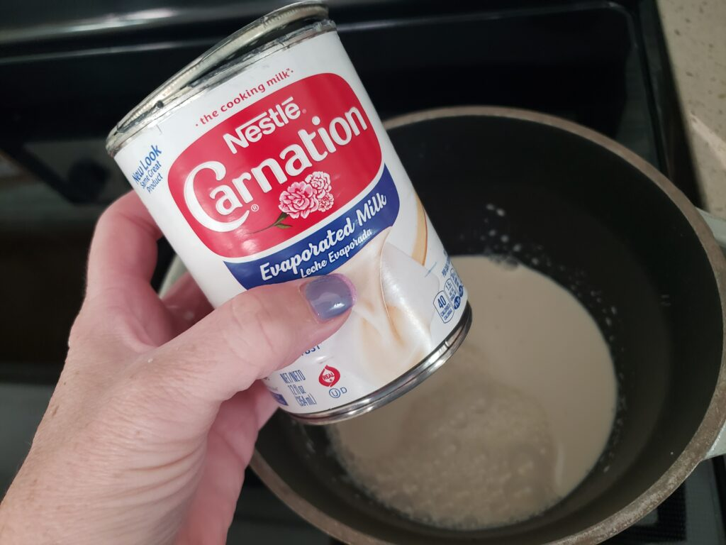 evaporated milk for fluff fudge
