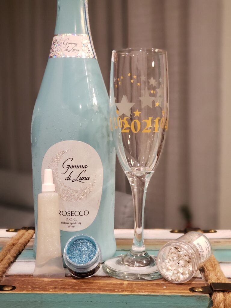 Sparkle like Champagne - champagne glass and supplies