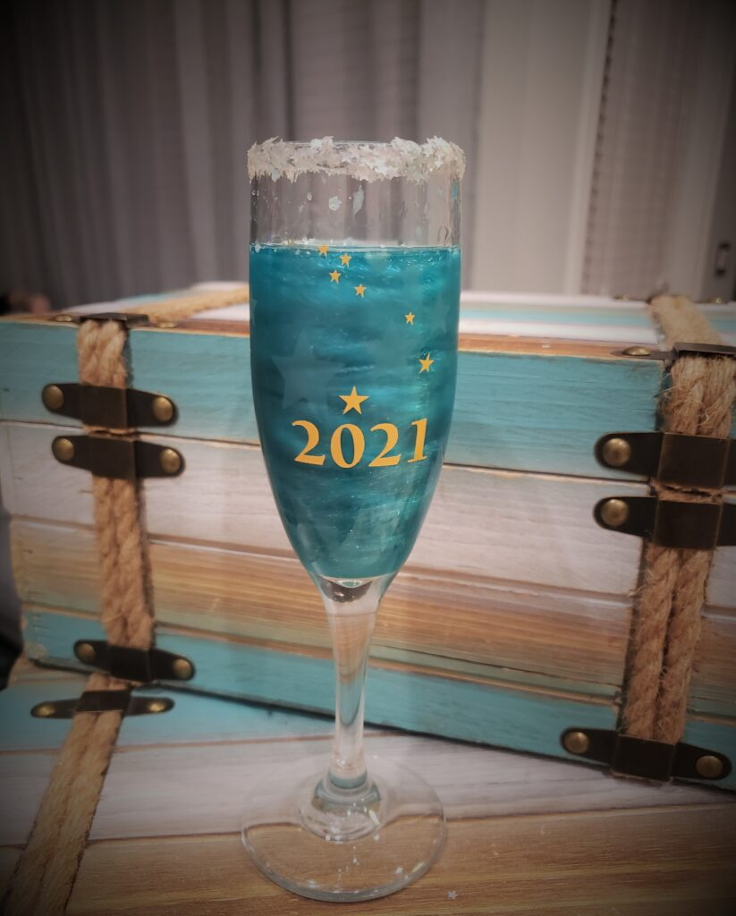 Sparkle like Champagne - glass with sparkles