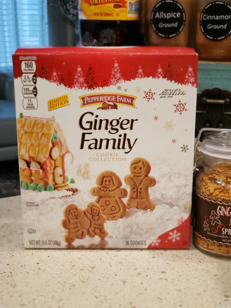 box of ginger family o the counter
