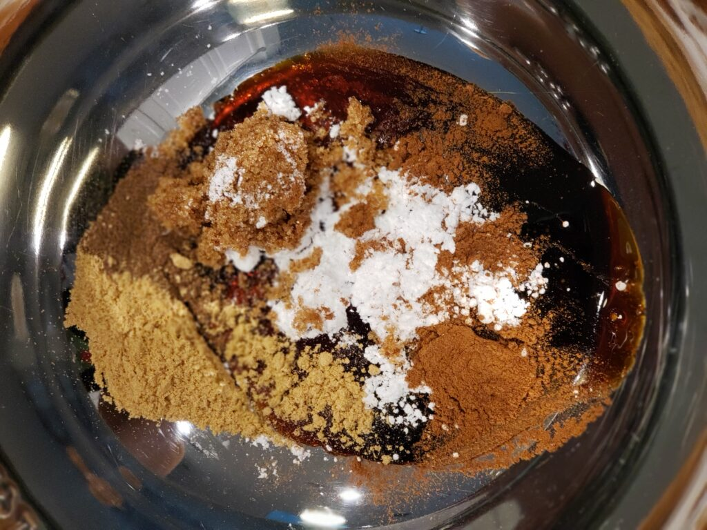 all the french toast spices in a bowl