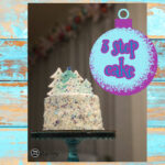 image with cake and - Winter Wonderland Cake - 3 easy steps
