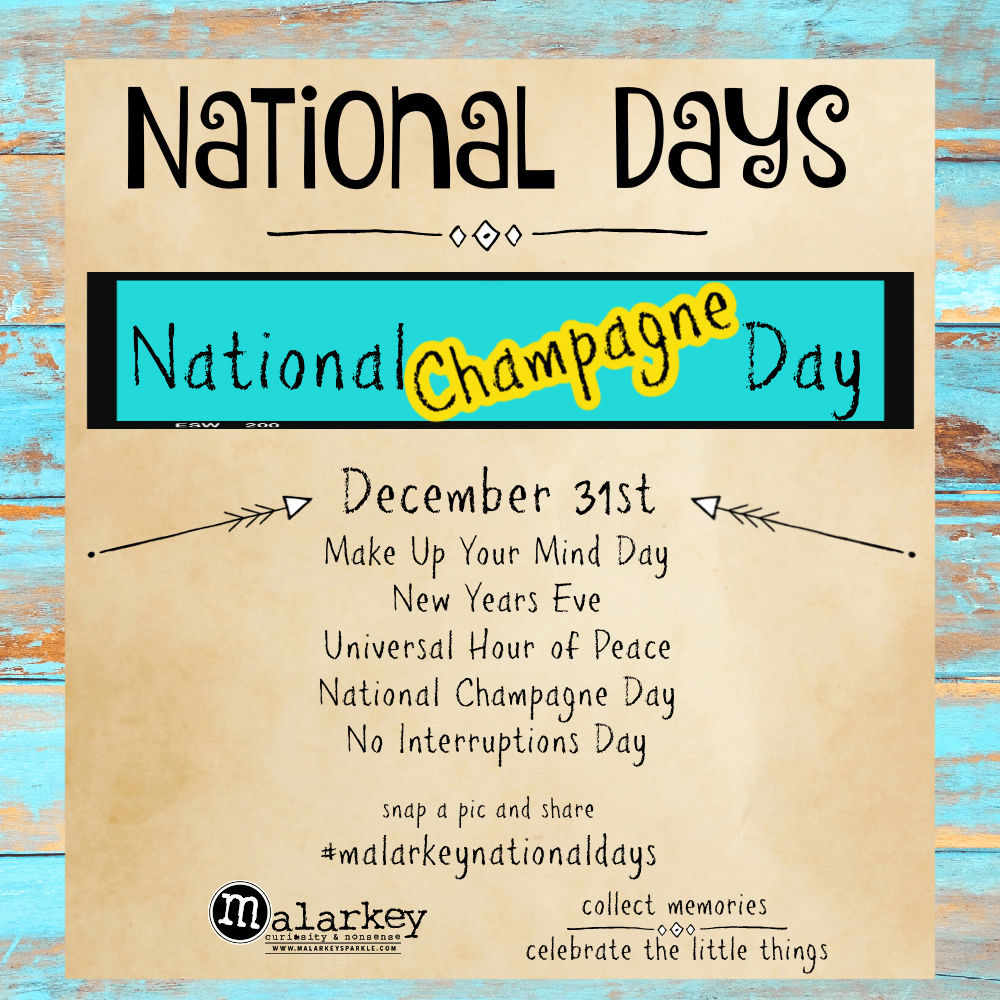 National Days - Week of December 27th thru jan 2nd - champs day