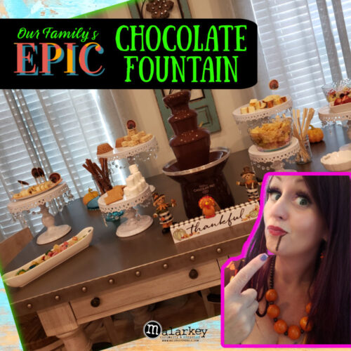 pin that says epic chocolate fountain