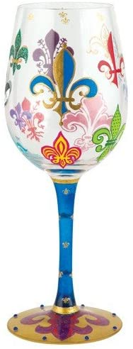 wine glass - mardi gras - let the good times roll