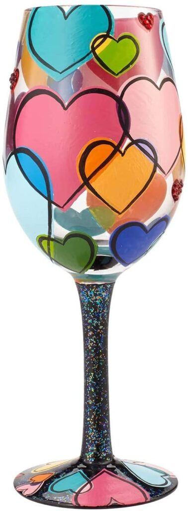 Valentines Day - spread love - heart wine glass 8-s looking