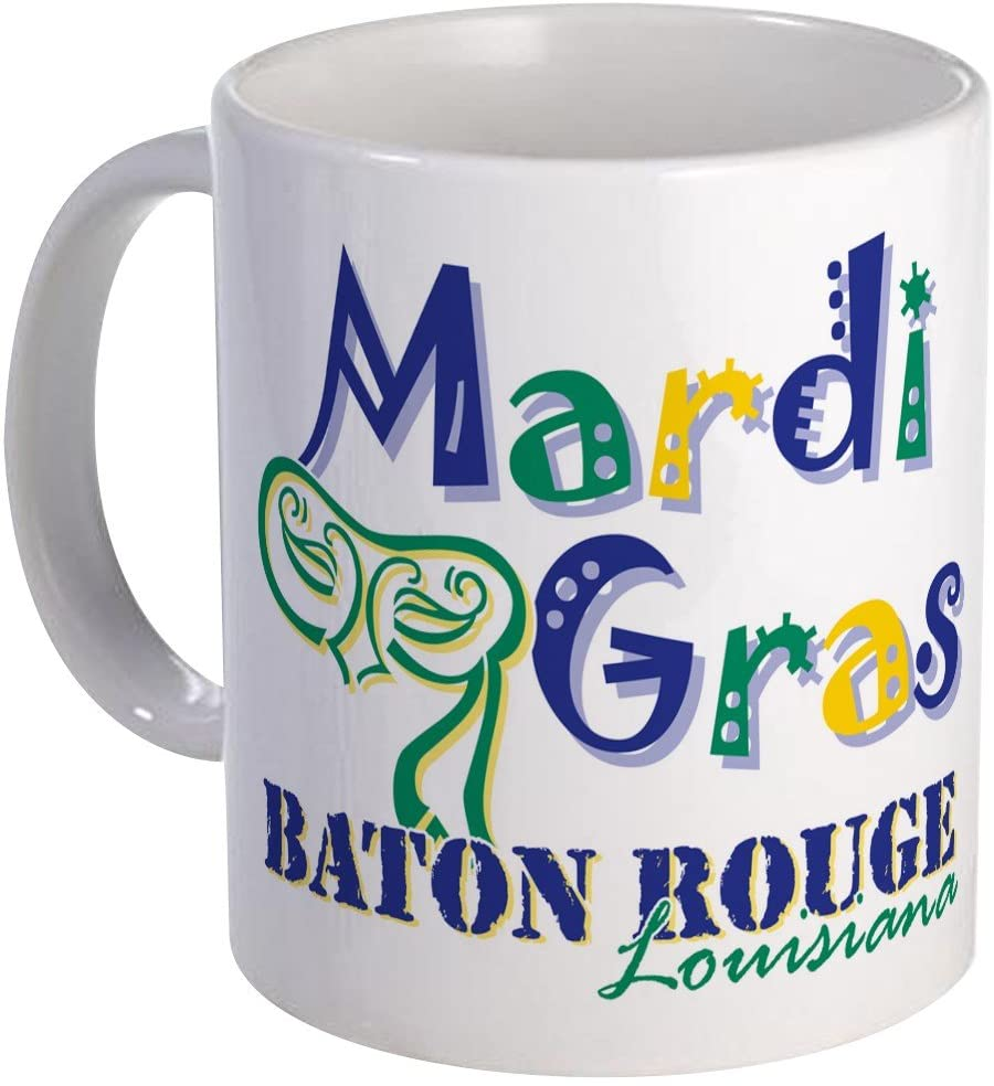 coffee cup - mardi gras - let the good times roll