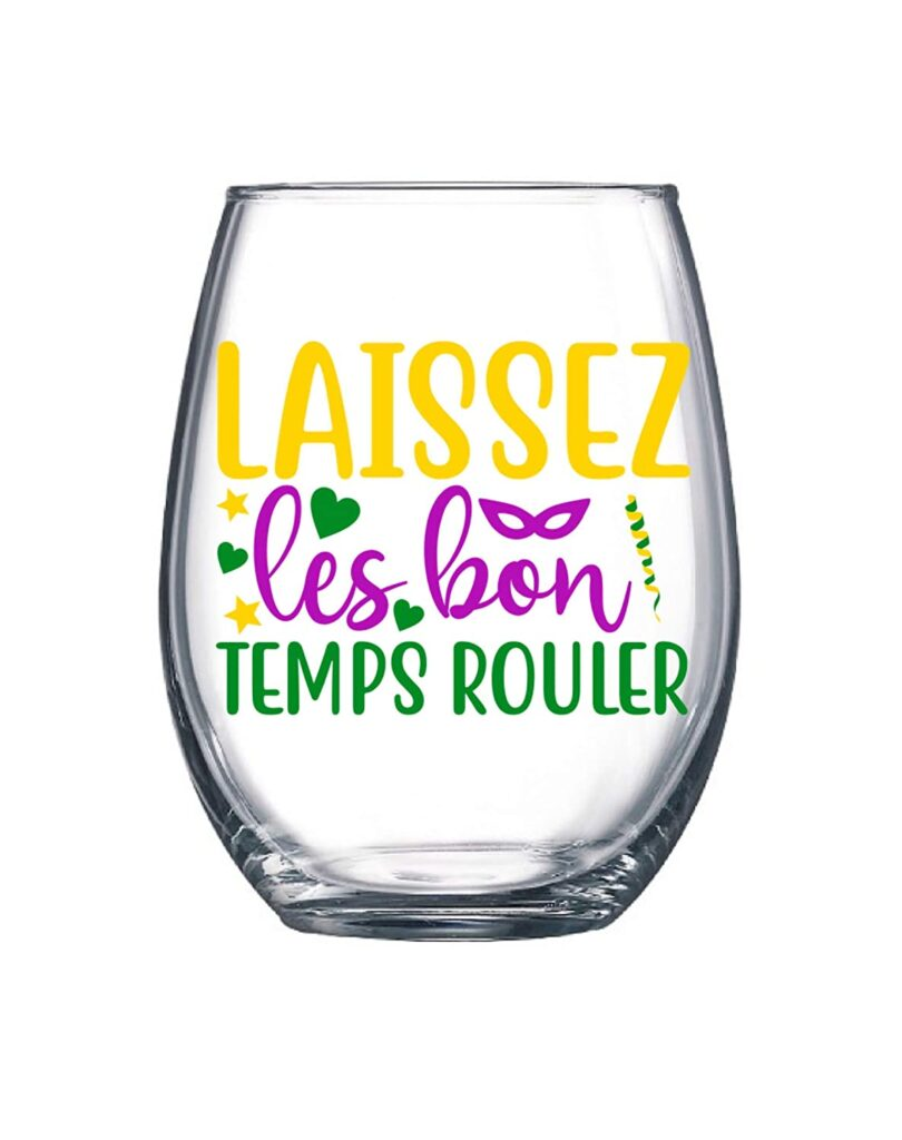 wir glass - mardi gras - let the good times roll