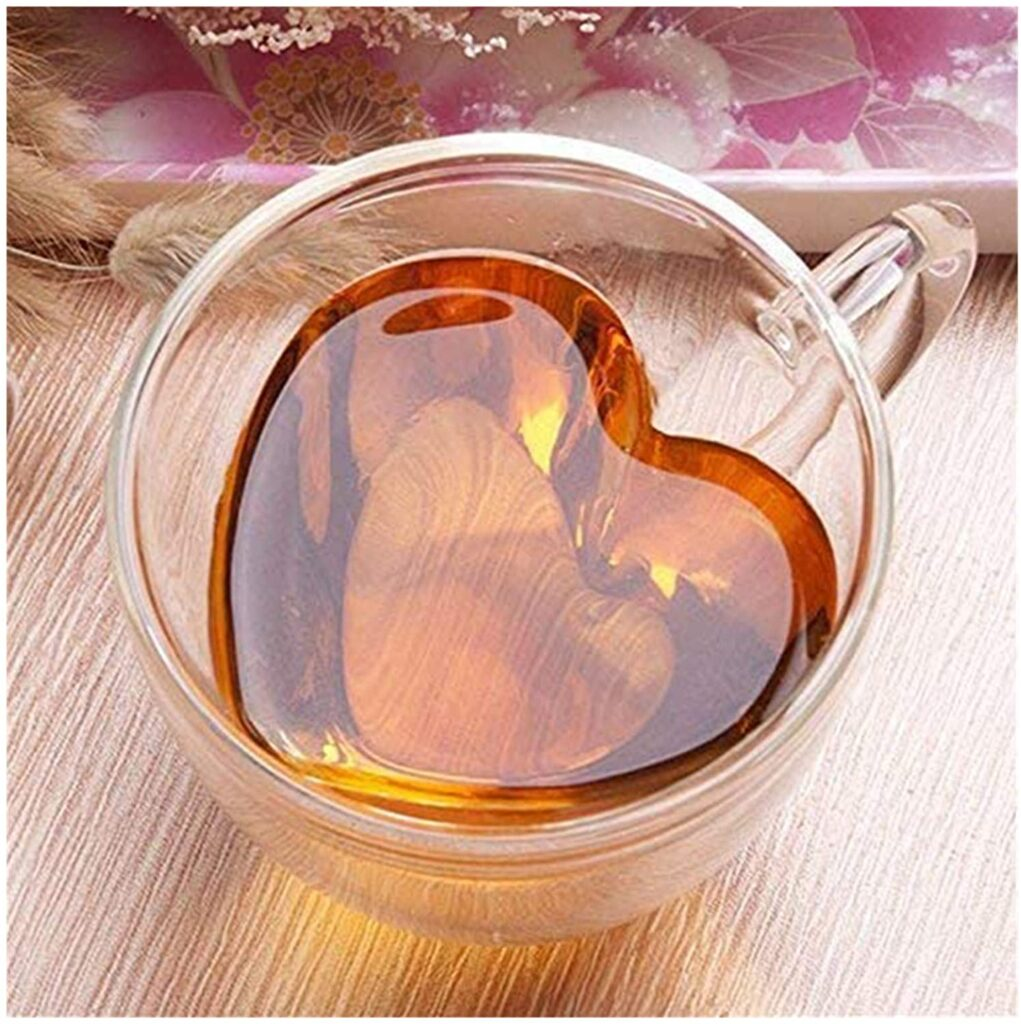 Valentines Day - spread love - heart shaped tea glass